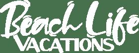 beach life vacations north myrtle beach vacation rental logo