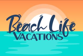 beach life vacations myrtle beach vacation rentals logo